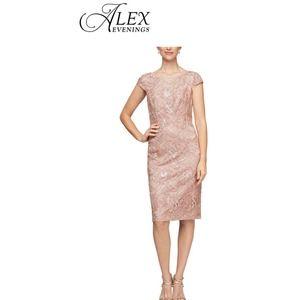 Alex Evenings Rose Gold Sparkle Dress size 16W